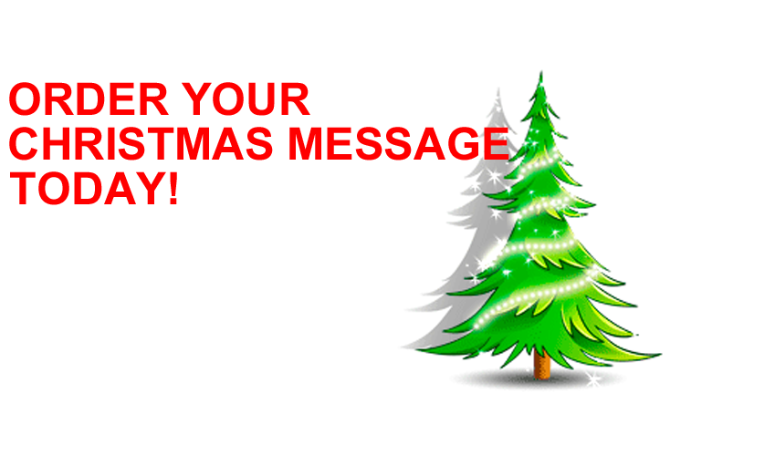 message on hold christmas message